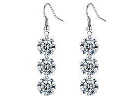 Treasures Elegant Grade White Diamond like Crystal Earrings