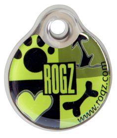Rogz - ID Tagz 27mm Instant Resin Tag - Lime