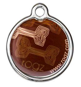 Rogz - ID Tagz 20mm Metal Tag - Mocha Bone