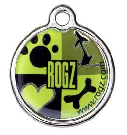 Rogz - 2cm ID Tagz Metal Tag - Lime Juice Design