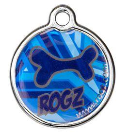 Rogz - ID Tagz 31mm Metal Tag - Navy Zen