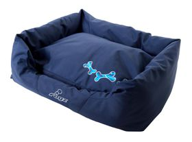 Rogz - Medium Spice Pod Dog Bed - Navy Zen Design