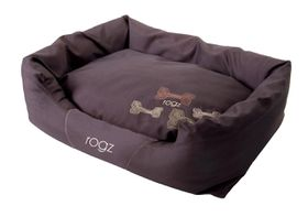 Rogz - Large Spice Pod Dog Bed - Mocha Bone Design