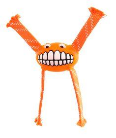 Rogz - 23cm Flossy Grinz Oral Care Dog Toy - Orange