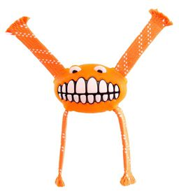 Rogz - Flossy Grinz 290mm Oral Care Dog Toy - Orange