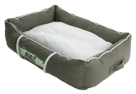 Rogz - Medium Lounge Pod Large Dog Bed - Olive