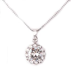 Civetta Spark Brilliance Pendent - Clear Swarovksi Crystal & Sterling Silver Chain