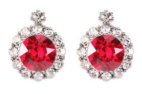 Civetta Spark Brilliance Earrings - Swarovksi Crystal In Light Siam