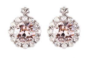 Civetta Spark Brilliance Earrings - Swarovksi Crystal In Vintage Rose