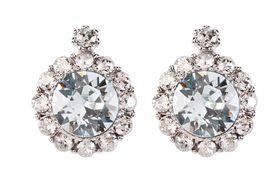 Civetta Spark Brilliance Earrings - Swarovksi Crystal In Light Azore