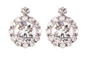Civetta Spark Brilliance Earrings - Swarovksi Crystal In Clear Crystal