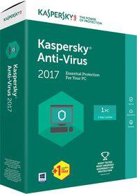Kaspersky Anti-Virus 2017 Box Pack - 1 User