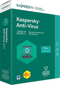 Kaspersky Anti-Virus 2017 Box Pack - 4 User
