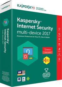 Kasperksy Internet Security 2017 Box Pack - 2 User
