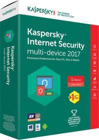 Kaspersky Internet Security 2017 Box Pack - 2 User