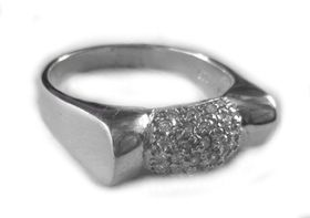 Miss Jewels- 925 Sterling Silver Clear Cubic Zirconia Cocktail Ring