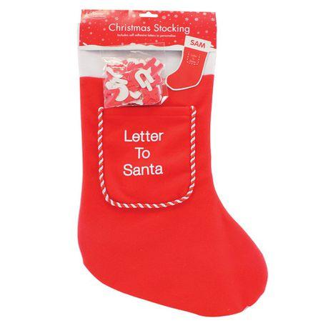 Letter Christmas Stockings.Christmas Stocking Personalised