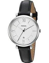 Fossil Women's ES3972 Jacqueline Stainless Steel Watch with Black Leather Band (Parallel import)