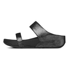 FitFlop Lulu Shimmersuede Slide - Black