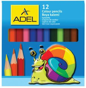 Adel 12 Half Length Colour Pencils