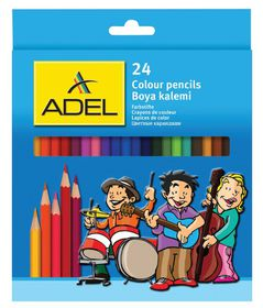 Adel 24 Full Length Colour Pencils