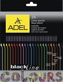 Adel 24 Blackline Colour Pencils