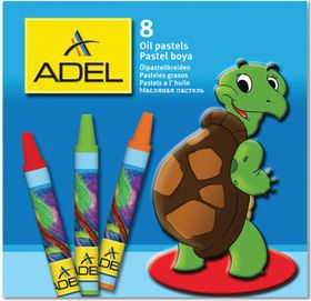 Adel 8 Round Oil Pastels