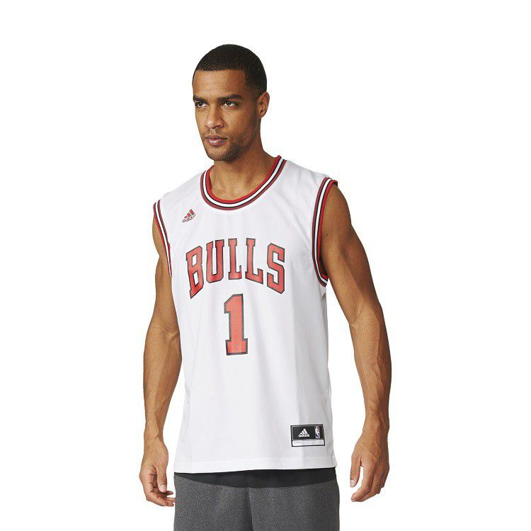 Men's adidas Chicago Bulls Derrick Rose NBA Replica Home Jersey ...