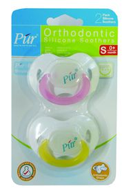 PUR - 2 Pack Soft Rim Pacifier (3months and above)