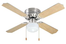 Bright Star - 106cm 4 Blade Ceiling Fan and Light - Satin