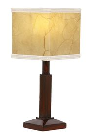 Bright Star - Resin Table Lamp With Square Parchment Shade