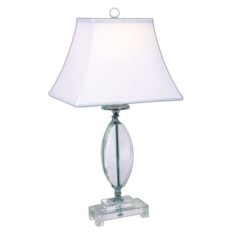 Bright Star Crystal Table Lamp With White Shade