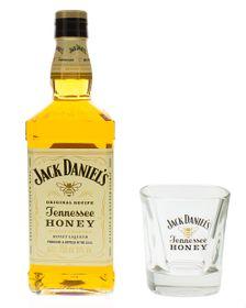 Jack Daniels - Jack Daniels Honey with Glass