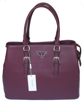 David Jones PU Leather Tote CM3220 - Bordeaux