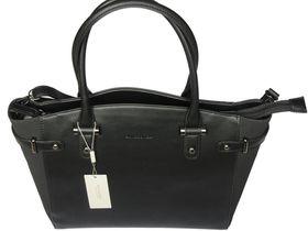 David Jones PU Leather Tote CM3223 - Black