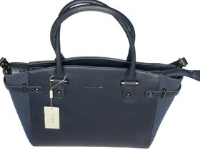 David Jones PU Leather Tote CM3223 - Dark Blue