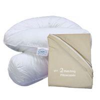 Bodypillow Comfi-Curve Deluxe X2 T233 100% Pure Cotton - Stone