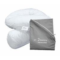 Bodypillow Comfi-Curve Deluxe X2 T233 100% Pure Cotton - Virescent Grey