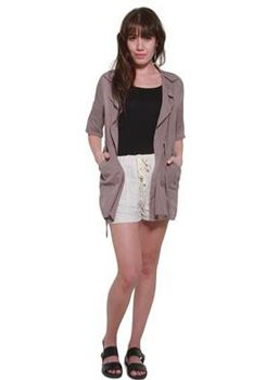 Glamzza Ladies Avie Anorak - Taupe (Size: One Size Fits All)