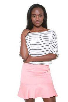 Glamzza Ladies Lexi Insert Ruffle Skirt - Pink (Size: Small)