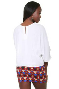 Glamzza Ladies Bell Sleeved Popover Top (Size: One Size Fits All)