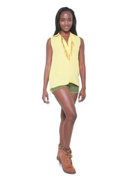 Glamzza Ladies Summer Sun Top - Yellow (Size: S-M)