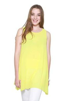 Glamzza Ladies Walking On Sunshine Tunic - Yellow (Size: S-M)