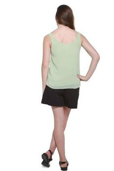 Glamzza Ladies Mindy Tank - Mint Green (Size: S-M)