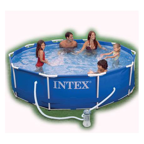 Intex Swimming Pool Family Edition with Metal Frame and Pool Pump
