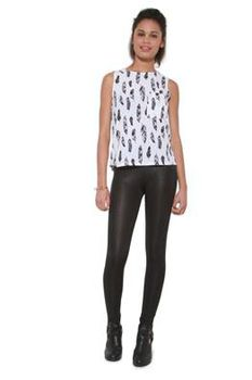 Glamzza Ladies Feather Me Up Top (Size: S-M)