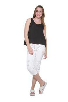 Glamzza Ladies Lacey T-Back Swing Tank - Black (Size: S-M)