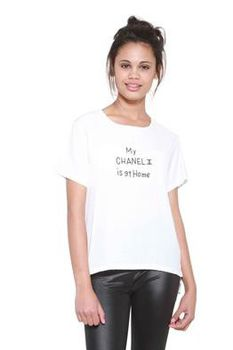 Glamzza Ladies My Chanel Graphic Tee (Size: One Size Fits All)
