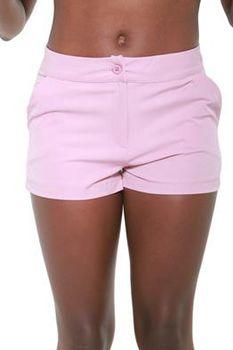 Glamzza Ladies Misty Shorts - Pink (Size: Small)