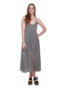 Glamzza Ladies Carly Scoop Neck Sundress - Black (Size: S-M)